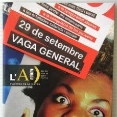 Coleccionismo de Revistas y Periódicos: L'AGENDA DE LA IMATGE. Nº59. 29 DE SETEMBRE, VAGA GENERAL. 2011. REVISTA DE FOTOGRAFIA.. Lote 156923842