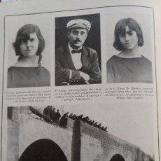 Coleccionismo de Revistas y Periódicos: MIRANDA ACCIDENTE AUTOMOVILISTICO HOJA AÑO 1921. Lote 156986810