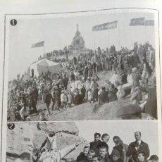 Coleccionismo de Revistas y Periódicos: SIERRA DE GIBRALFARO MALAGA .MONTE EL HACHO MONUMENTO SAGRADO CORAZON DE JESUS HOJA AÑO 1921. Lote 156987282