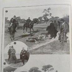 Coleccionismo de Revistas y Periódicos: ALFONSO XIII EN SEVILLA CACERIA REGIA COTO DE DOÑANA DUQUE TARIFA 2 HOJAS AÑO 1921. Lote 156988478
