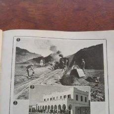 Coleccionismo de Revistas y Periódicos: CEUTA FERROCARRIL TETUAN-XAUEN PUENTE DEL MOGOTE RIO MARTIN HOJA AÑO 1921. Lote 156990314