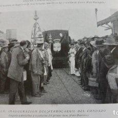 Coleccionismo de Revistas y Periódicos: SEVILLA BOLLULLOS FERROCARRIL DEL CONDADO TETUAN ENTIERRO TENIENTE REGULARES JUAN IRIBARNE 1921. Lote 156990930