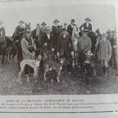 Coleccionismo de Revistas y Periódicos: JEREZ DE LA FRONTERA CAMPEONATO DE GALGOS MARQUES PERALES Y MANUEL SARO 1921. Lote 156991258