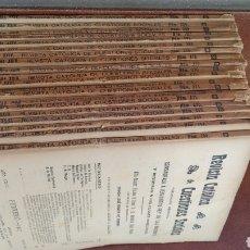 Coleccionismo de Revistas y Periódicos: LOTE REVISTA CATÓLICA DE CUESTIONES SOCIALES 1917. Lote 156992093