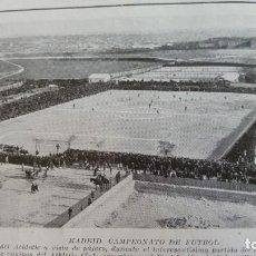 Coleccionismo de Revistas y Periódicos: MADRID CAMPO DEL ATHLETIC REAL UNION HOJA AÑO 1921. Lote 156992830