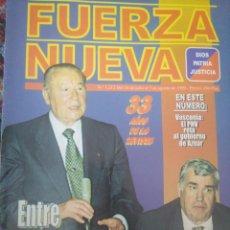 Coleccionismo de Revistas y Periódicos: REVISTA FUERZA NUEVA 1212 JULIO 1999. Lote 157211602