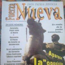 Coleccionismo de Revistas y Periódicos: REVISTA FUERZA NUEVA 1214 SEPTIEMBRE 1999. Lote 157212906