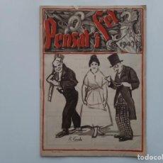 Coleccionismo de Revistas y Periódicos: PENSAT I FET , FALLAS VALENCIA 1947. Lote 157227646