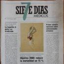 Coleccionismo de Revistas y Periódicos: REVISTA N°11 SIETE DÍAS MÉDICOS 1989. Lote 157381509