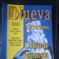 Coleccionismo de Revistas y Periódicos: REVISTA FUERZA NUEVA 1242 FEBRERO 2001 FRANCO FALANGE. Lote 157797514