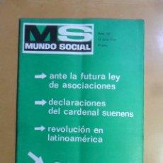 Coleccionismo de Revistas y Periódicos: Nº 167 - MS MUNDO SOCIAL - 15/06/1969 - GIBRALTAR EN SU SITIO... - FOMENTO SOCIAL. Lote 157889958