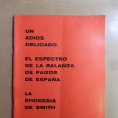 Coleccionismo de Revistas y Periódicos: Nº 169 - MS MUNDO SOCIAL - 15/09/1969 - UN DIOS OBLIGADO... - FOMENTO SOCIAL. Lote 157890102