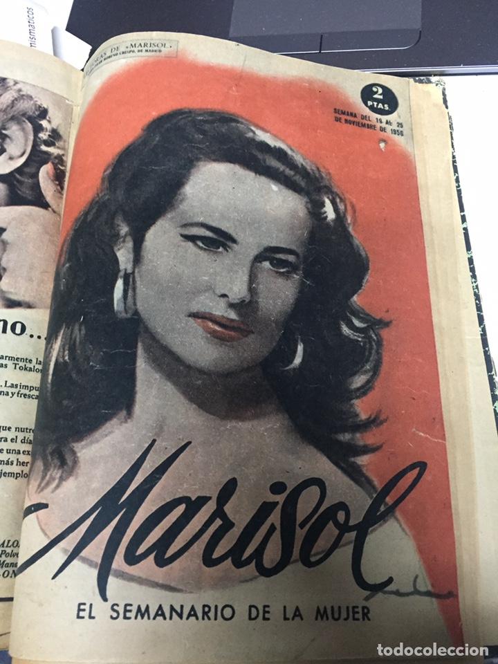 Coleccionismo de Revistas y Periódicos: Revistas Marisol semanario de la mujer año 1955/56 encuadernado - Foto 3 - 157898322