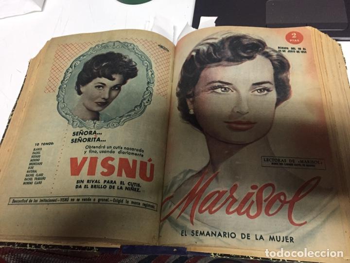 Coleccionismo de Revistas y Periódicos: Revistas Marisol semanario de la mujer año 1955/56 encuadernado - Foto 7 - 157898322