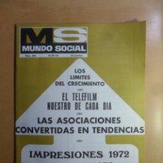 Coleccionismo de Revistas y Periódicos: Nº 205 - MS MUNDO SOCIAL - 15/12/1972 - IMPRESIONES 1972-DESEOS 1973 - FOMENTO SOCIAL. Lote 157960598