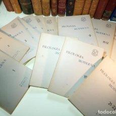 Coleccionismo de Revistas y Periódicos: LOTE DE 22 NÚMEROS EN 16 REVISTAS. FILOLOGÍA MODERNA. UNIVERSIDAD DE MADRID. FAC. DE FILOSOFÍA Y LE . Lote 158128694