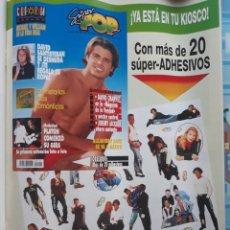Coleccionismo de Revistas y Periódicos: DAVID CHARVET ANUNCIO SUPER POP PLATON TAKE THAT . Lote 158162318