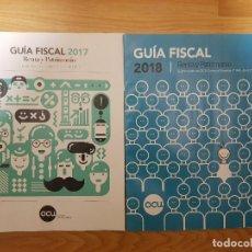 Coleccionismo de Revistas y Periódicos: LOTE DE REVISTAS OCU GUIA FISCAL AÑO 2017 / 2018.. Lote 158170798