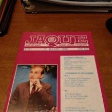 Coleccionismo de Revistas y Periódicos: REVISTA AJEDREZ JAQUE N. 171 MARZO 1985. Lote 158173034