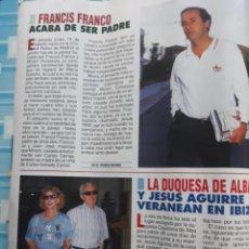 Coleccionismo de Revistas y Periódicos: CAYETANA LA DUQUESA DE ALBA JESUS AGUIRRE FRANCIS FRANCO. Lote 158249546