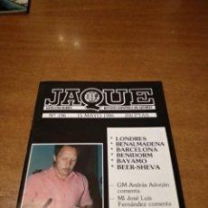 Coleccionismo de Revistas y Periódicos: REVISTA AJEDREZ JAQUE N. 196 MAYO 1986. Lote 158259354