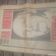 Coleccionismo de Revistas y Periódicos: PERIÓDICO PUEBLO FRANCO A MUERTO. Lote 158331134