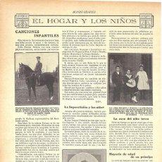 Collezionismo di Riviste e Giornali: 1912 HOJA REVISTA BARCELONA ESCRITORA NARCISA FREIXAS LIBRO DE CANCIONES INFANTILES. Lote 158353206