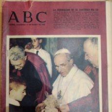 Coleccionismo de Revistas y Periódicos: ABC 11 DE MARZO DEL 1956 CORONACIÓN DE SU SANTIDAD PÍO XLL. Lote 158477486