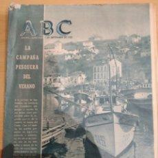 Coleccionismo de Revistas y Periódicos: ABC 7 DE SEPTIEMBRE 1955 LA CAMPAÑA PESQUERA DEL VERANO. Lote 158477557