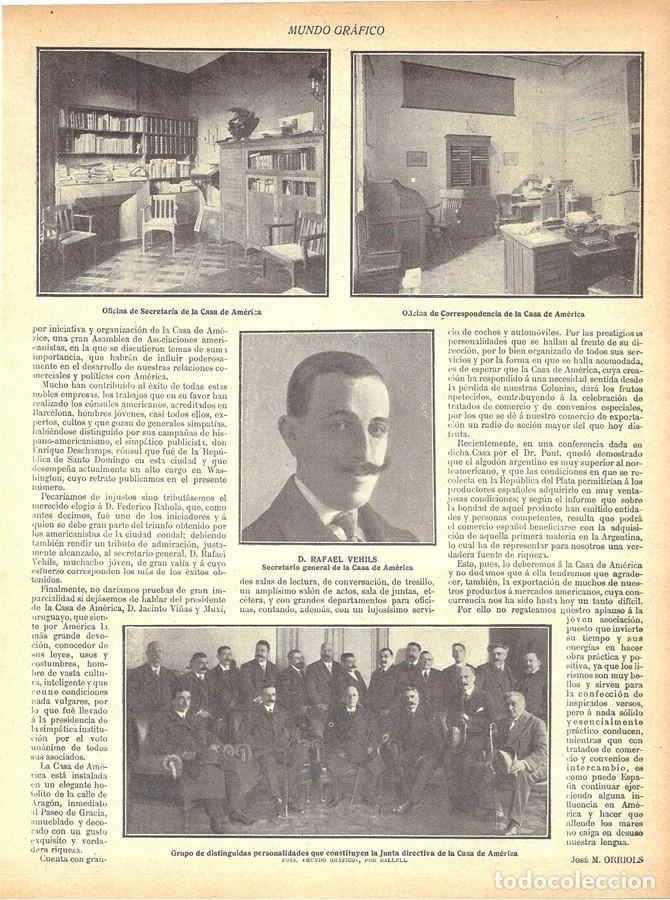 Coleccionismo de Revistas y Periódicos: 1912 HOJAS REVISTA BARCELONA LA CASA DE AMÉRICA FEDERICO RAHOLA ENRIQUE DESCHAMPS JACINTO VIÑAS MUXI - Foto 3 - 158500114