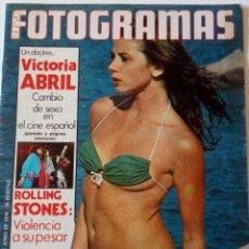 Coleccionismo de Revistas y Periódicos: REVISTA FOTOGRAMAS 1445 VICTORIA ABRIL ROLLING STONES PIER PAOLO PASOLINI AUDREY HEPBURN ERIC MAJÓ. Lote 158586250