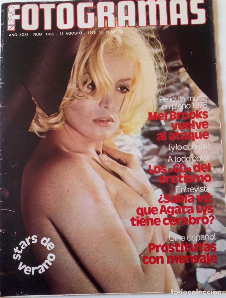 REVISTA FOTOGRAMAS Nº 1452 AGATA LYS CECILIA MEL BROOKS FRITZ LANG (Coleccionismo - Revistas y Periódicos Modernos (a partir de 1.940) - Otros)