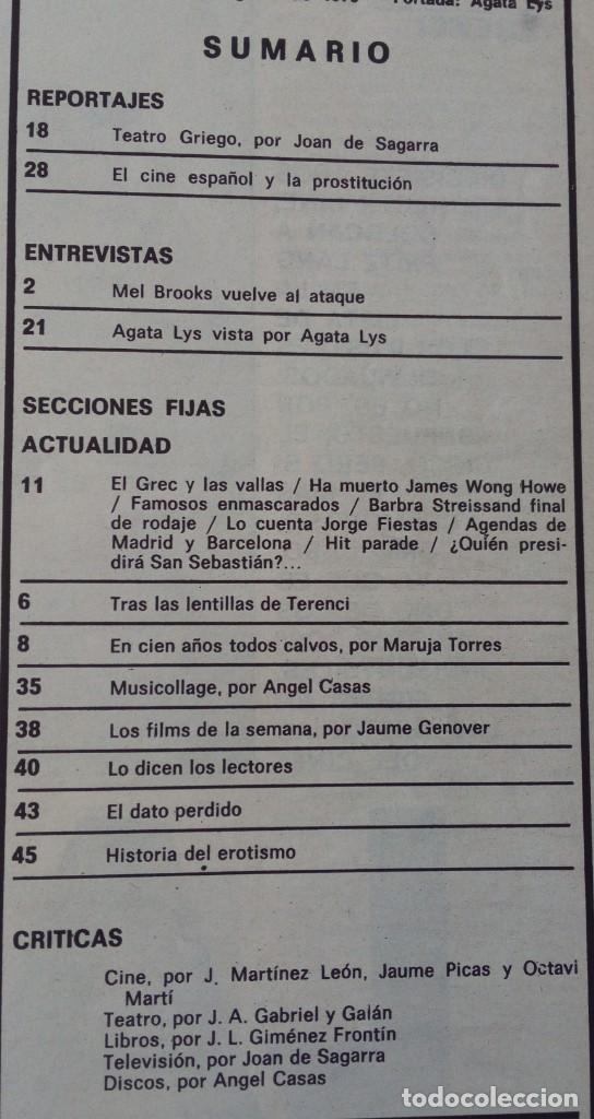 Coleccionismo de Revistas y Periódicos: Revista Fotogramas nº 1452 Agata Lys Cecilia Mel Brooks Fritz Lang - Foto 4 - 158589506