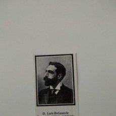 Coleccionismo de Revistas y Periódicos: RECORTE REVISTA ORIGINAL ANTIGUO.LUIS BELAUNDE,DIRECTOR ADMINISTRACION LOCAL. Lote 158650582
