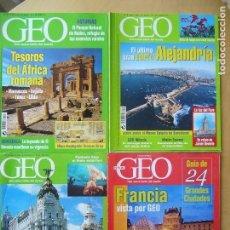 Coleccionismo de Revistas y Periódicos: LOTE 4 REVISTAS GEO. Lote 158662662