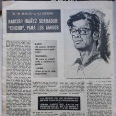 Coleccionismo de Revistas y Periódicos: NARCISO IBAÑEZ SERRADOR CHICHO . Lote 158701246