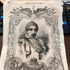 Coleccionismo de Revistas y Periódicos: GRABADO PERIODICO LA ILUSTRACION MEDIADOS SIGLO XIX - NAPOLEON III - MEDIDA 40X27 CM. Lote 158821918