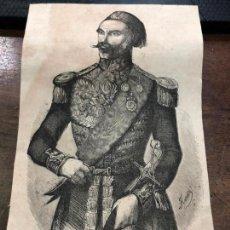 Coleccionismo de Revistas y Periódicos: GRABADO PERIODICO LA ILUSTRACION MEDIADOS SIGLO XIX - OMER PACHA - MEDIDA 24X14 CM. Lote 158831494