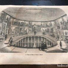 Coleccionismo de Revistas y Periódicos: GRABADO PERIODICO LA ILUSTRACION MEDIADOS SIGLO XIX - TRIBUNA MUSEO PINTURA DE MADRID - 27X18 CM. Lote 158831982