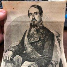 Coleccionismo de Revistas y Periódicos: GRABADO PERIODICO LA ILUSTRACION MEDIADOS SIGLO XIX - CAPITAN GENERAL D. LEOPOLDO O´DONELL. Lote 158839122