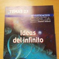 Coleccionismo de Revistas y Periódicos: REVISTA INVESTIGACIÓN Y CIENCIA (1ER TRIMESTRE 2001) IDEAS DEL INFINITO. Lote 158854754