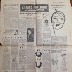 Coleccionismo de Revistas y Periódicos: ARTÍCULOS CORREO FEMENINO POR LLUCIETA CAÑA DEL PERIÓDICO CORREO CATALÁN 1954-1955. Lote 158936362