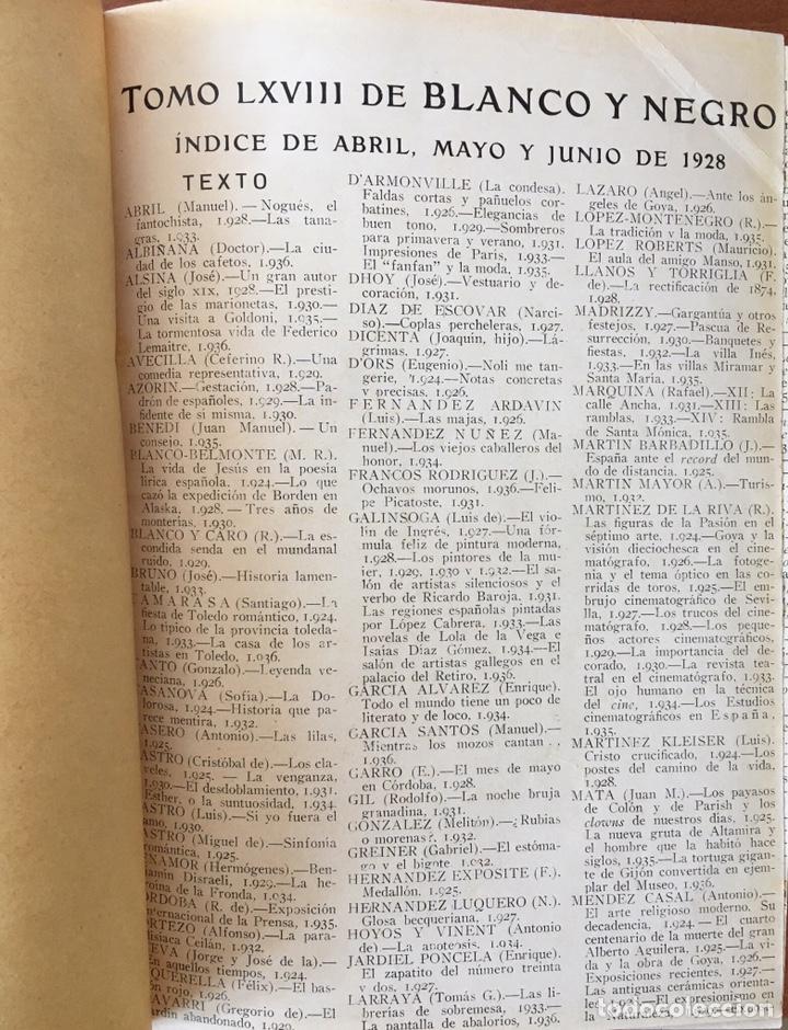 Coleccionismo de Revistas y Periódicos: Blanco y negro: revista ilustrada. Tomo LXVIII (68) (Abril - junio, 1928) - Foto 3 - 158956566