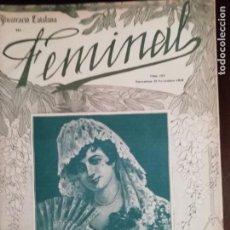 Coleccionismo de Revistas y Periódicos: REVISTA FEMINAL ILUSTRACIÓ CATALANA Nº104 ANY 1915. Lote 159128578
