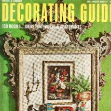 Coleccionismo de Revistas y Periódicos: DECORATING GUIDE 150 ROOMS..IDEAS FOR HOUSES & APARTEMENTS 1966-67. Lote 159142470