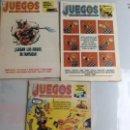 Coleccionismo de Revistas y Periódicos: JUEGOS PARA GENTE DE MENTE LOTE DE 3 REVISTAS - REVISTA DE JUEGOS DE LOGICA. Lote 159149002