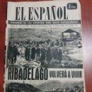 Coleccionismo de Revistas y Periódicos: RIBADELAGO ZAMORA 1959, TRAJEDIA.. Lote 159159650