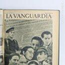 Coleccionismo de Revistas y Periódicos: LA VANGUARDIA. AÑO 1938. GUERRA CIVIL. DIVERSOS NÚMEROS ENCUADERNADOS. VER FOTOS ANEXAS. Lote 159215366