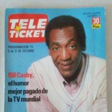 Coleccionismo de Revistas y Periódicos: REVISTA TELE TICKET N° 1 1987 . Lote 159379778