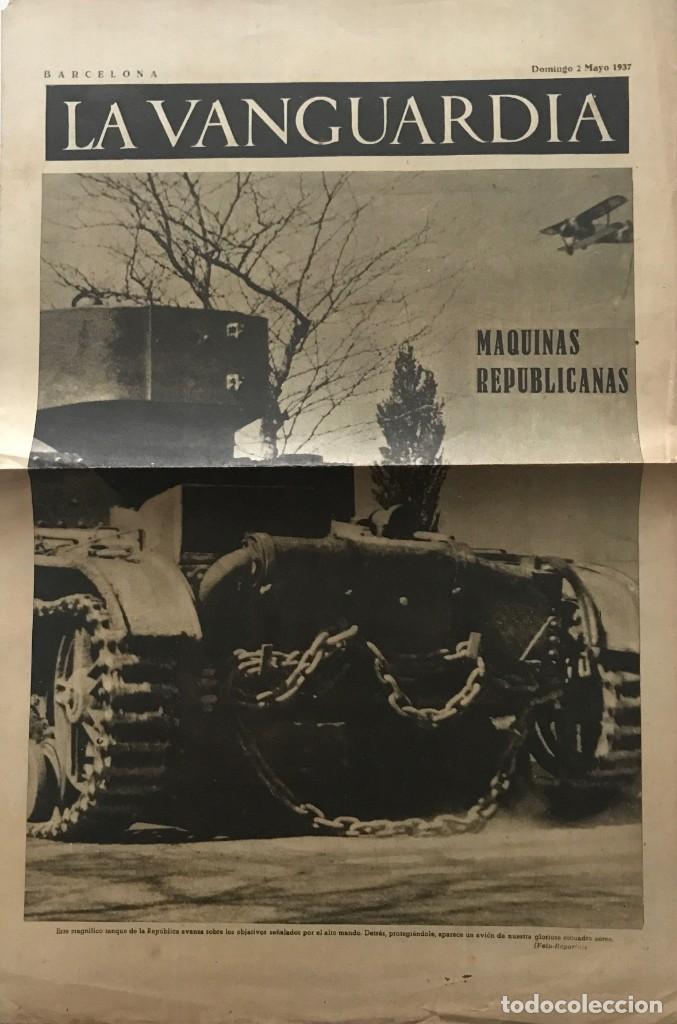 1937 LA VANGUARDIA 32,7X49 CM (Coleccionismo - Revistas y Periódicos Antiguos (hasta 1.939))